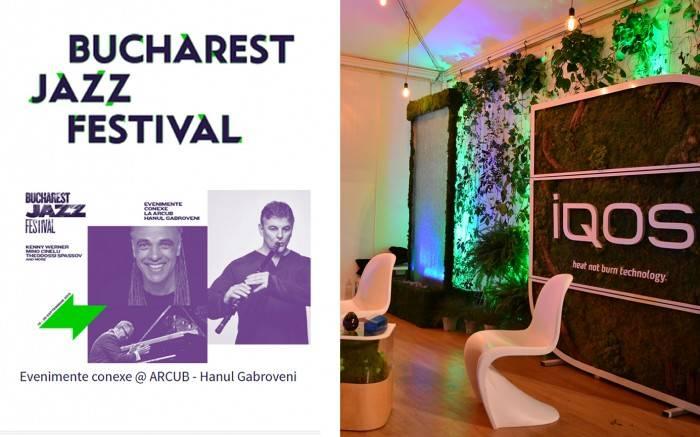 poza fantana decorativa de inchiriat la evenimentul IQOS la festivalul de Jazz