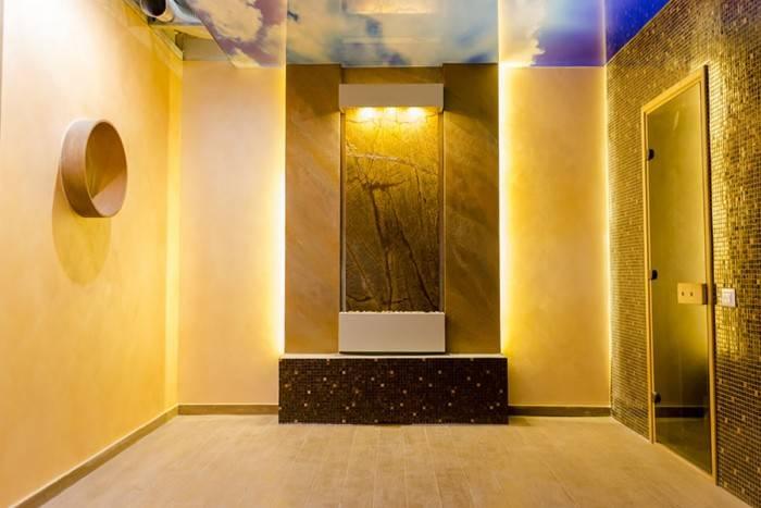 poza fantana de interior pe perete realizat pentru zona SPA