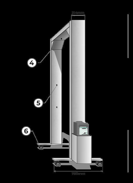 Schita 02 Poarta-D, poarta pentru decontaminare